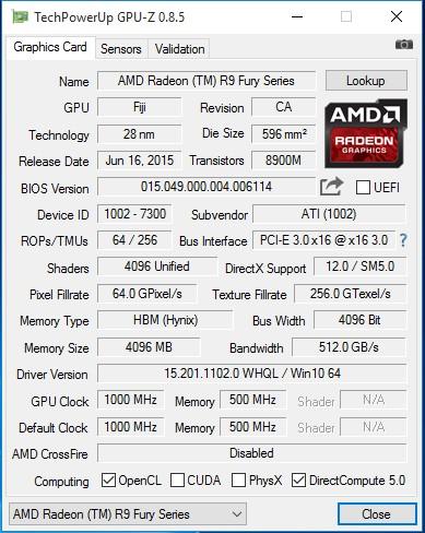 AMD Radeon R9 Nano характеристики