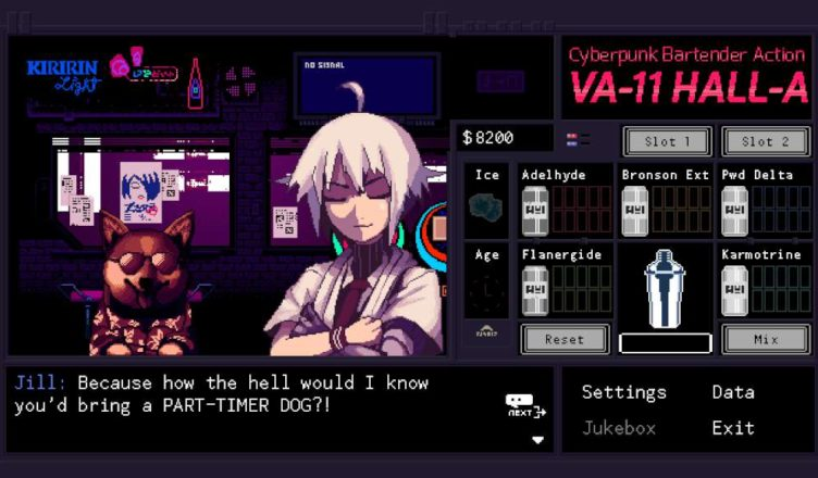 Va-11 Hall-A: Cyberpunk Bartender Action